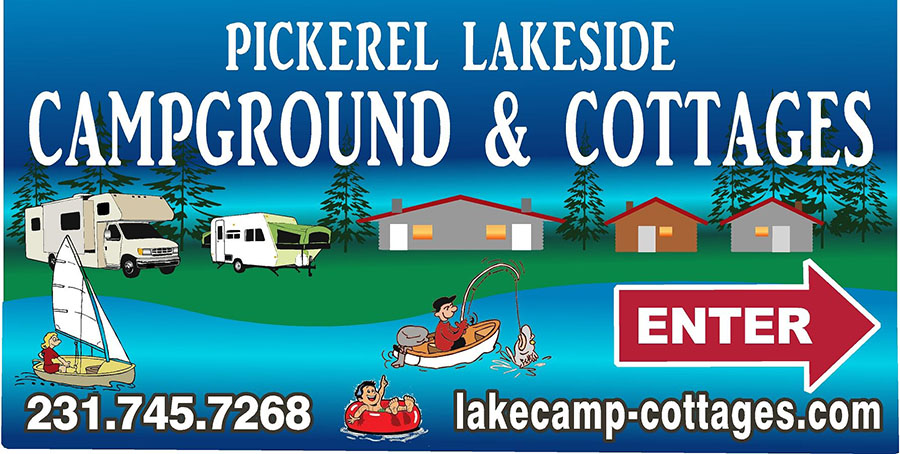 Pickerel Lakeside Campground & Cottages Logo Image